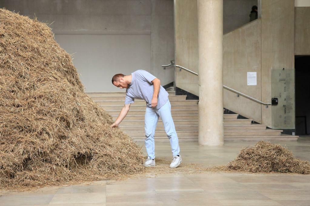 Man Finds Needle In Haystack