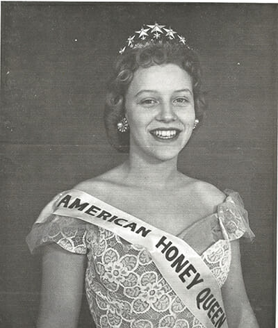 The first American Honey Queen, Kay Seidelman, was crowned in 1959.