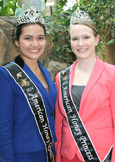 Today's American Honey Queen and Princess Elena Hoffman and Susannah Austin.
