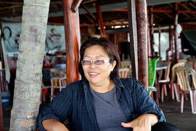 Farah Au, owner and proprietor of Kelong Acheh in Mersing, Malaysia.