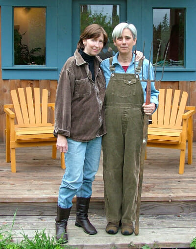 Carmen Goodyear, right, and her partner Laurie York, revamping American Gothic.