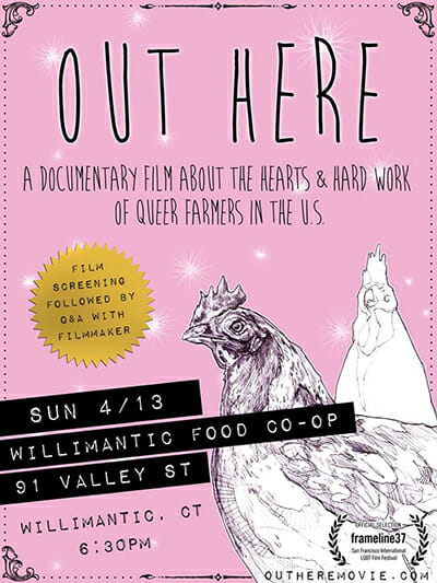 The poster for Jonah Mossberg's documentary film about queer farmers. / Courtesy Jonah Mossberg.