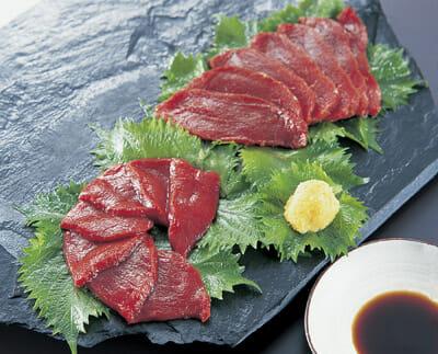 Deer sashimi.