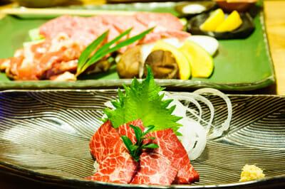 Horse sashimi.