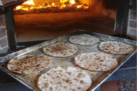 Wood-fired oven and matzah