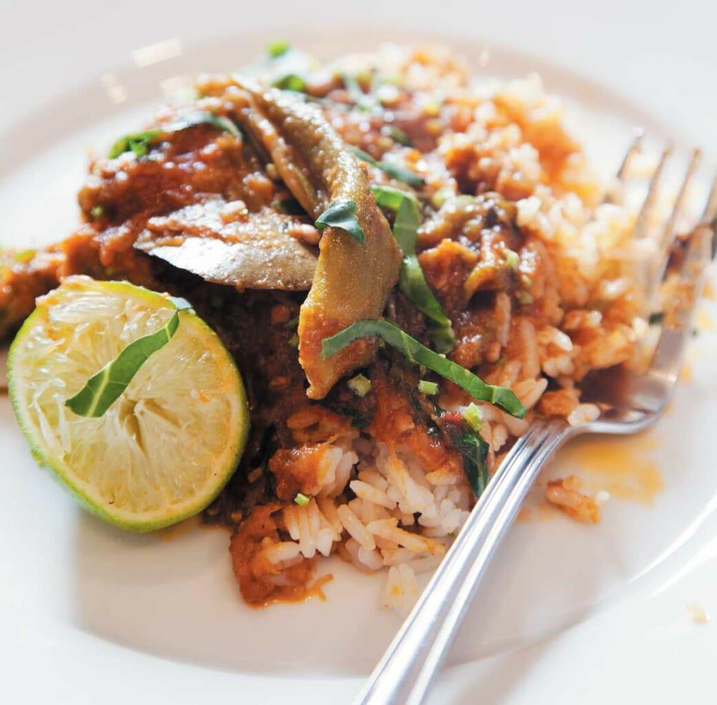wild boar vindaloo with basmati rice