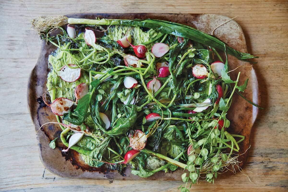 radish salad with leek butter
