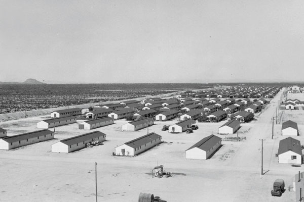 Among those interned at Arizona's Gila River camp, which at one point housed 13,348 people, were the author's parents and grandparents. Francis Stewart / Courtesy of Bancroft Library / UC Berkeley