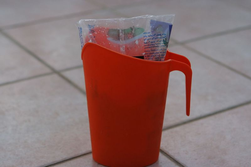"""Milk Bag Plastic Pitcher"" by Ilan Costica - Own work. Licensed under CC BY 3.0 via Commons."