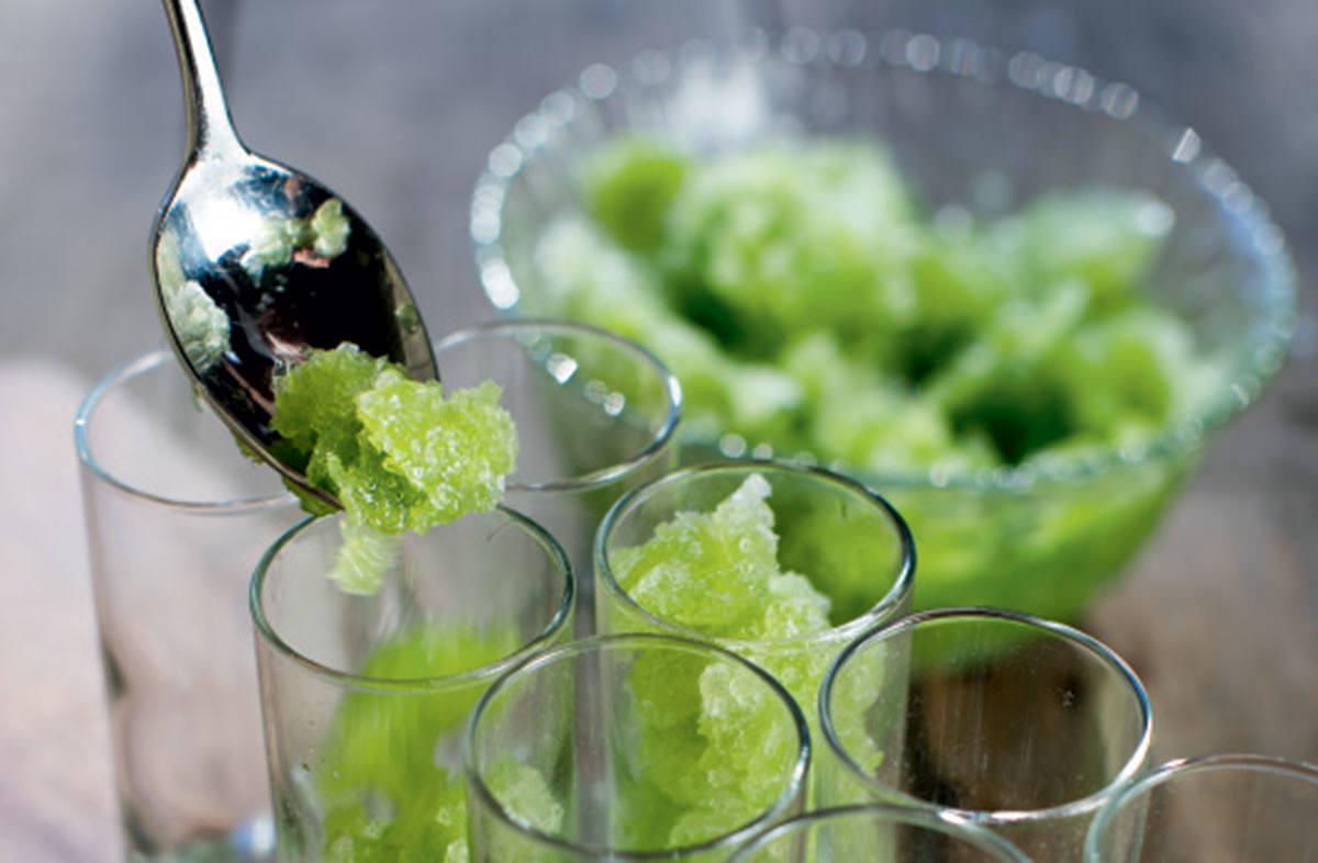 parsley granita