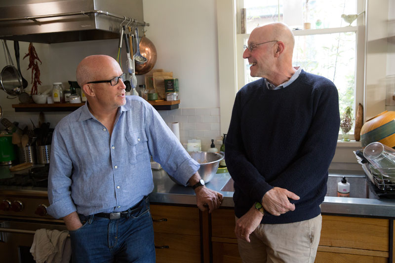 Michael Pollan with director Alex Gibney. Karen Ballard/Netflix
