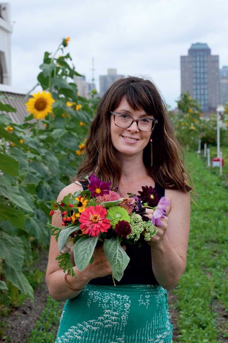 New York City farmer Molly Culver designed the bouquets for the event.