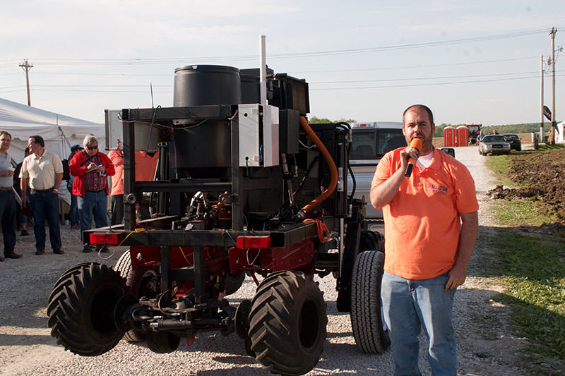 South Carolina's Pee Dee Precision Ag present their third-place-winning agbot (still on a trailer).
