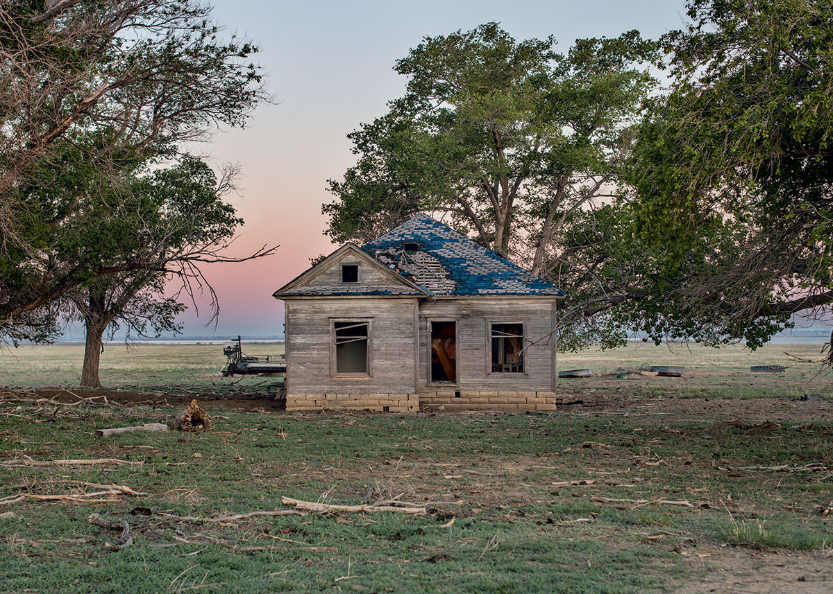 Drive through Crowley County today, and you'll find abandoned farmhouses, like this one, and dusty, barren fields. Only some 6,000 acres - of 60,000 once in production - remain active.