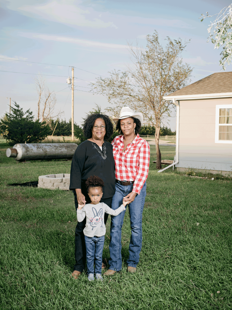 Dr. JohnElla Holmes (left), a retired college professor, recently returned to Nicodemus, where she runs an agricultural camp for kids. Her daughter, LueCreasea Horne (right) moved back a few years ago to raise her two children, including daughter Lauryn.