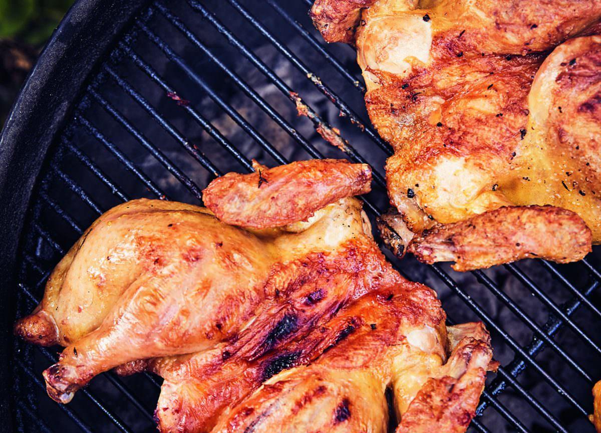 Grilled Lemon Thyme Chicken Recipe Modern Farmer Anatomy Bones Wing Diagram
