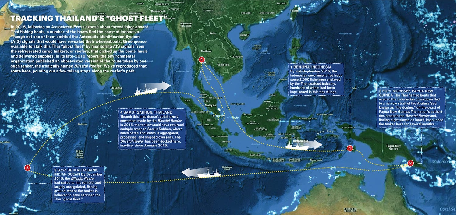 Can Satellite Surveillance Help End Slavery in the Seafood