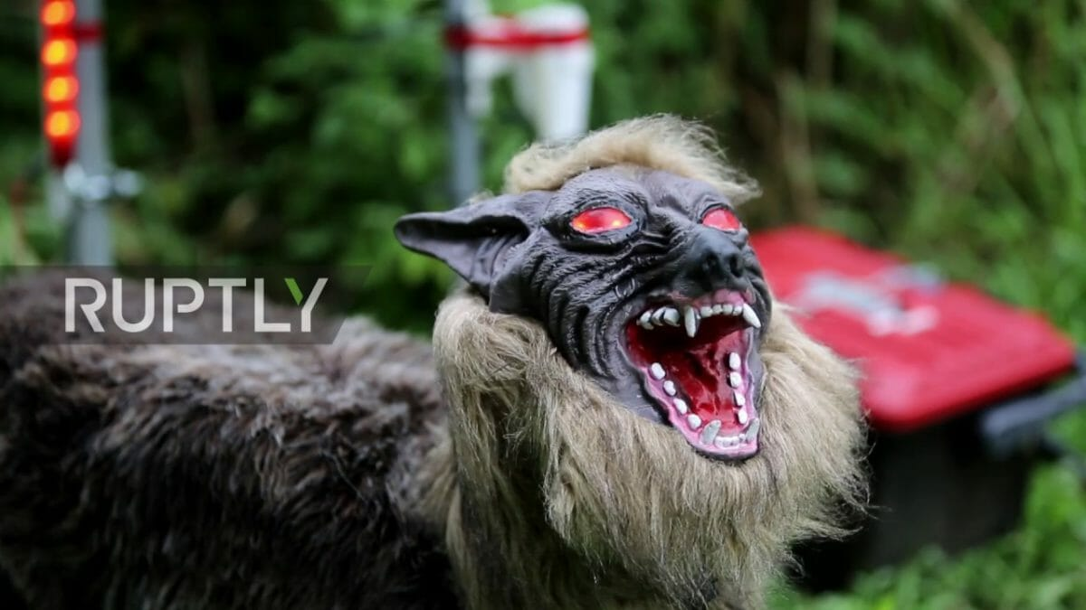 super monster wolf Japanese scarecrow
