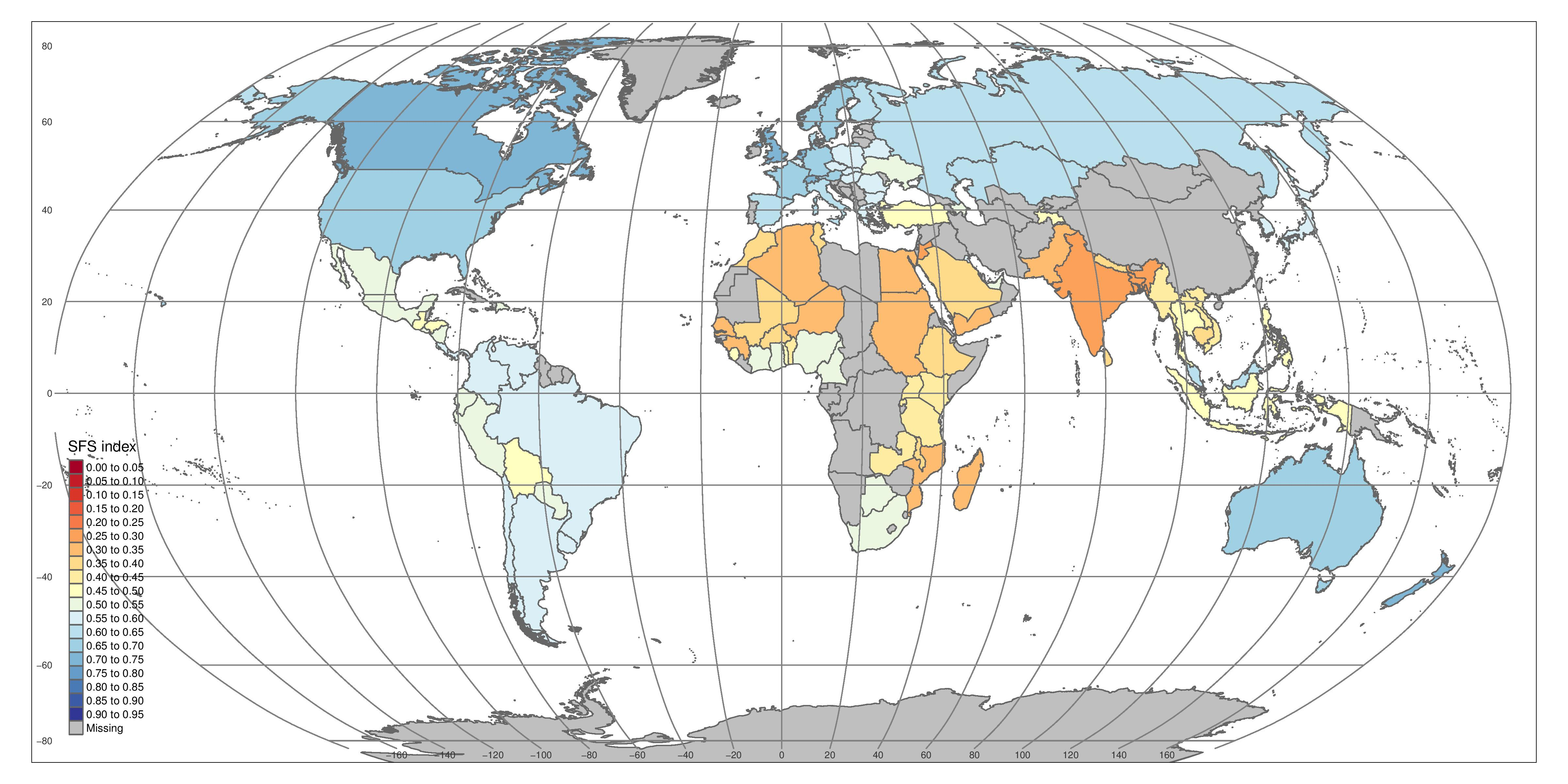 New Map Shows Sustainability of Global Food Systems